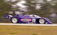 The #20 Porsche 962 of James Adams and Chris Cord races to a 12th place finish in the 12 Hours of Sebring, Sebring, FL, March 20, 1993.  (Photo by Brian Cleary/www.bcpix.com)