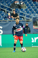 FOXBOROUGH, MA - MAY 1: Carles Gil #22 of New England Revolution during a game between Atlanta United FC and New England Revolution at Gillette Stadium on May 1, 2021 in Foxborough, Massachusetts.