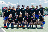 Boston, MA - Saturday June 24, 2017: Boston Breakers wearing their Nike Equality training tees before a regular season National Women's Soccer League (NWSL) match between the Boston Breakers and the North Carolina Courage at Jordan Field.