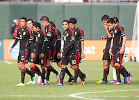 San Francisco, California - Saturday March 17, 2012: Mexico U23 starters walk off the pitch after the 1st Half of the Mexico vs Senegal U23 in final Olympic qualifying tuneup. Mexico defeated Senegal 2-1