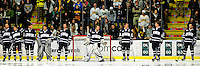 6 December 2009: Members of the University of New Hampshire Wildcats line up prior to a game against the University of Vermont Catamounts at Gutterson Fieldhouse in Burlington, Vermont. The Wildcats defeated the Catamounts 5-2 in the Hockey East matchup. Mandatory Credit: Ed Wolfstein Photo