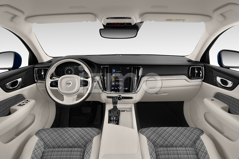 Stock photo of straight dashboard view of 2019 Volvo V60-Crosscountry - 5 Door Wagon Dashboard