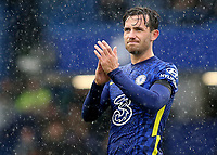 Chelsea's Ben Chilwell, applauds the home fans at the end of the match during Chelsea vs Southampton, Premier League Football at Stamford Bridge on 2nd October 2021