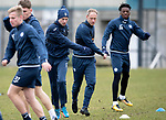 St Johnstone Training…06.04.18   McDiarmid Park, Perth<br />Striker Steven MacLean pictured alongside Steven Anderson and Matty Willock during training this morning ahead of tomorrow's game against Motherwell<br />Picture by Graeme Hart.<br />Copyright Perthshire Picture Agency<br />Tel: 01738 623350  Mobile: 07990 594431