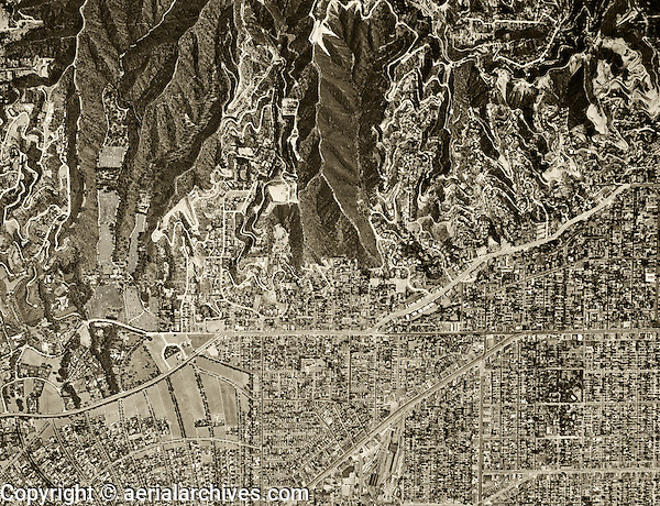 historical aerial Beverly Hills, California, Los Angeles county, 1948