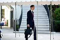 Jared Kushner, Assistant to the President and Senior Advisor walks to the South Lawn of the White House in Washington D.C., U.S., as United States President Donald J. Trump departs for Yuma, Arizona on Tuesday, June 23, 2020.  Trump stated that he authorized the Federal government to arrest any demonstrator caught vandalizing U.S. monuments, with a punishment of up to 10 years in prison.  Credit: Stefani Reynolds / CNP/AdMedia