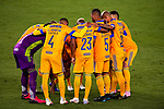 Player of Tigres UANL (MEX) gather prior their match against New York City FC (USA) during their Scotiabank Concacaf Champions League match at the Orlando's Exploria Stadium on 15 December 2020, in Florida. Photo by Victor Fraile / Power Sport Images