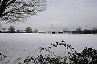 The local school playing field after more overnight snowfall at Foots Cray Meadow, Sidcup, Kent, England on the 9 February 2021. Photo by Alan Stanford.