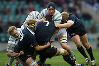 Scott Annett of Cambridge University charges through the Oxford midfield during the 131st Varsity Match between Oxford University and Cambridge University at Twickenham on Thursday 06 December 2012 (Photo by Rob Munro)