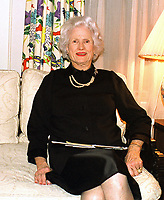Mrs. John S. McCain, Jr. (Roberta), wife of United States Navy Admiral John S. McCain, Jr., Commander-in-Chief, Pacific Command (CINCPAC), and mother of US Senator John S. McCain, III (Republican of Arizona) in her apartment in Washington, DC on 18 February, 2000.<br /> CAP/MPI/RS<br /> ©RS/MPI/Capital Pictures