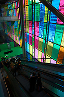 The Colored window of Montreal Convention Center<br /> <br /> photo :  Images Distribution