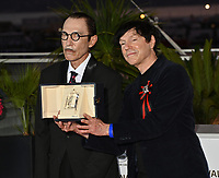 CANNES, FRANCE. July 17, 2021: Ron Mael & Russell Mael at the photocall for Cannes Awards 2021 at the 74th Festival de Cannes.<br /> Picture: Paul Smith / Featureflash