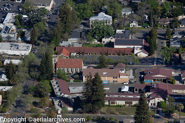 aerial photograph of St. Helena, Napa County, California