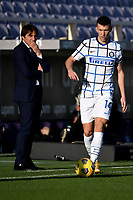 Ivan Perisic of FC Internazionale in action under the gaze of Antonio Conte coach of FC Internazionale during the Italy Cup round of 16 football match between ACF Fiorentina and FC Internazionale at Artemio Franchi stadium in Firenze (Italy), January 13th, 2021. Photo Andrea Staccioli / Insidefoto