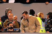 Calcio, Serie A:  Roma vs Palermo. Roma, stadio Olimpico, 21 febbraio 2016. <br /> Roma's Francesco Totti arrives on the stand for the Italian Serie A football match between Roma and Palermo at Rome's Olympic stadium, 21 February 2016.<br /> UPDATE IMAGES PRESS/Riccardo De Luca