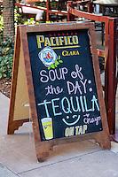 Las Vegas, Nevada.  Chayo Restaurant Billboard, The Linq Promenade.