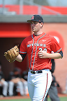 Rutgers University Scarlet Knights pitcher Kyle Driscoll (30) during a game against the University of Cincinnati Bearcats at Bainton Field on April 19, 2014 in Piscataway, New Jersey. Rutgers defeated Cincinnati 4-1.  (Tomasso DeRosa/ Four Seam Images)
