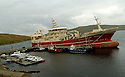19/10/2005         Copyright Pic : James Stewart.File Name : jspa04 shetland fish.THE SUPER TRAWLER, ALTAIRE, DWARFS OTHER BOATS AS IT SITS AT THE PIER AT THE COLLA FIRTH ON SHETLAND...Payments to :.James Stewart Photo Agency 19 Carronlea Drive, Falkirk. FK2 8DN      Vat Reg No. 607 6932 25.Office     : +44 (0)1324 570906     .Mobile   : +44 (0)7721 416997.Fax         : +44 (0)1324 570906.E-mail  :  jim@jspa.co.uk.If you require further information then contact Jim Stewart on any of the numbers above.........