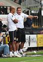 Stevenage manager Graham Westley and assistant manager Dino Maamria<br />  - Stevenage v Leyton Orient - Sky Bet League 1 - Lamex Stadium, Stevenage - 17th August, 2013<br />  © Kevin Coleman 2013