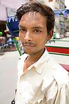 Portrait of a rickshaw driver, Old Delhi