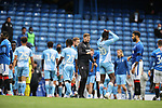 25.07.2020 Rangers v Coventry City: Steven Gerrard commiserates with Coventry at full time