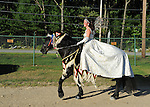 Costumed horseback rider at Cheshire Fair in Swanzey, New Hampshire USA