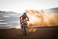 4th January 2021; Dakar Rally stage 2;  #04 Cornejo Florimo Jose Ignacio (chl), Honda, Monster Energy Honda Team 2021, Motul, Moto, Bike, action during the 2nd stage of the Dakar 2021 between Bisha and Wadi Al Dawasir, in Saudi Arabia on January 4, 2021