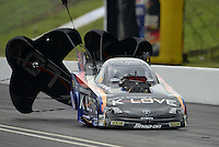 Jun. 17, 2012; Bristol, TN, USA: NHRA funny car driver Tony Pedregon during the Thunder Valley Nationals at Bristol Dragway. Mandatory Credit: Mark J. Rebilas-