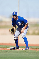 Kansas City Royals Roman Collins (30) during an Instructional League game against the Cleveland Indians on October 11, 2016 at the Cleveland Indians Player Development Complex in Goodyear, Arizona.  (Mike Janes/Four Seam Images)