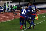 JSW Bengaluru FC (India) players are celebrating after the goal during match AFCCQF1 – AFC Cup 2016 Quarter Finals<br /> JSWBENGALURUFC(IND) – JSW Bengaluru FC (India)<br /> vs<br /> TAMPINESROVERS(SIN) – Tampines Rovers (Singapore)<br /> at Kanteerava Stadium, Bangalore, Karnataka on 14th Septembar 2016.<br /> Photo by Saikat Das/Lagardere Sports