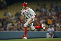 08/9/11 Los Angeles, CA: Philadelphia Phillies right fielder Hunter Pence #3 during an MLB game against the Los Angeles Dodgers played at Dodger Stadium. The Phillies defeated the Dodgers 5-3.