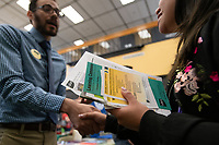 Future Seawolves meet UAA staff during the campus resource fair portion of Howl Days new student orientation in UAA's Student Union.