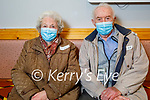 Husband and wife, Michael and Mary O'Connor from Listowel receiving their vaccine at the Convent Street Clinic in Listowel on Thursday