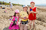 Enjoying the beach in Ballyheigue on Tuesday, l to r: Maddie Houlihan, Rachel Smoba and Helen Hennessy from Tarbert.