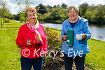 Enjoying a cuppa and a chat by the river Feale in Listowel on Thursday, l to r: Del O'Sullivan and Cathy Mawe