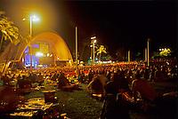 Concert at the Waikiki Shell, night