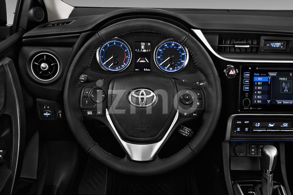Car pictures of steering wheel view of a 2018 Toyota Corolla XSE-AT 4 Door Sedan Steering Wheel
