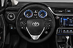 Car pictures of steering wheel view of a 2018 Toyota Corolla XSE-AT 4 Door Sedan Steering Wheel