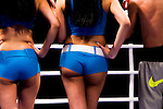 Top Rank Knockouts Ring Girls during the light flyweight fight between Hin Leong of Macao vs Raymond Poon of Hong Kong as part of the Clash of Champions on 14 May 2016 in Hong Kong, China. Photo by Victor Fraile / Power Sport Images