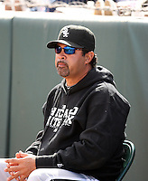 Ozzie Guillen - manager. Chicago White Sox spring training game vs. Oakland Athletics at Phoenix Municipal Stadium, Phoenix, AZ - 03/10/2010.Photo by:  Bill Mitchell/Four Seam Images.