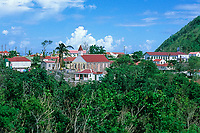 Windwardside town of Saba Island, Netherlands Antilles, (Eastern Caribbean Sea, Atlantic), Atlantic