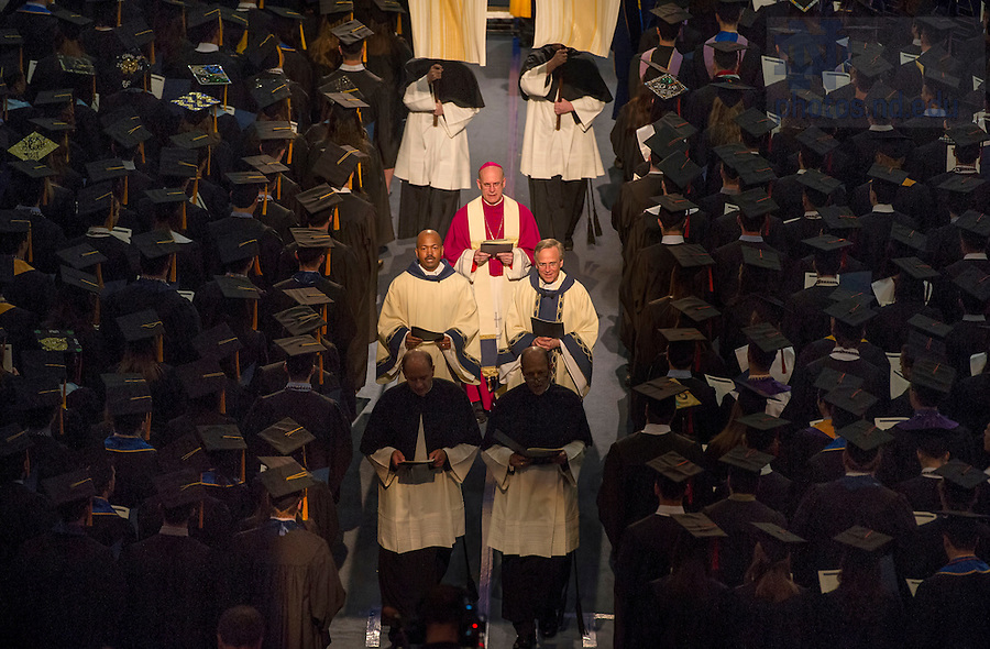 May 17, 2014; The 2014 Commencement Mass. Photo by Barbara Johnston/University of Notre Dame