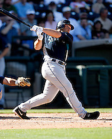 Jeff Clement -  Seattle Mariners - 2009 spring training.Photo by:  Bill Mitchell/Four Seam Images