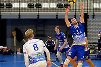 06-03-2021: Volleybal: Amysoft Lycurgus v Active Living Orion: Groningen set up Lycurgus speler Sam Gortzak