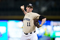 at BB&T BallPark on March 13, 2018 in Charlotte, North Carolina.  The 49ers defeated the Demon Deacons 13-1.  (Brian Westerholt/Four Seam Images)