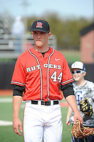 Rutgers University Scarlet Knights pitcher Max Herrmann (44) after a game against the University of Cincinnati Bearcats at Bainton Field on April 19, 2014 in Piscataway, New Jersey. Rutgers defeated Cincinnati 4-1.  (Tomasso DeRosa/ Four Seam Images)