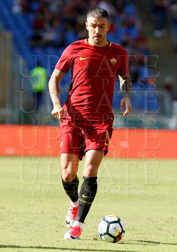 Calcio, Serie A: Roma vs Udinese. Roma, stadio Olimpico, 23 settembre 2017.<br /> Roma's Aleksandar Kolarov in action during the Italian Serie A football match between Roma and Udinese at Rome's Olympic stadium, 23 September 2017. Roma won 3-1.<br /> UPDATE IMAGES PRESS/Riccardo De Luca