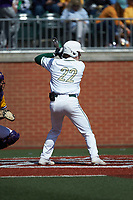 Dominic Pilolli (22) of the Charlotte 49ers at bat against the East Carolina Pirates at Hayes Stadium on March 8, 2020 in Charlotte, North Carolina. The Pirates defeated the 49ers 4-1. (Brian Westerholt/Four Seam Images)