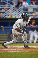Staten Island Yankees left fielder Kendall Coleman (24) at bat during a game against the Batavia Muckdogs on August 27, 2016 at Dwyer Stadium in Batavia, New York.  Staten Island defeated Batavia 13-10 in eleven innings.  (Mike Janes/Four Seam Images)