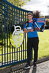 Rangers captain Lee Wallace promoting pay at the gate for the St Johnstone match
